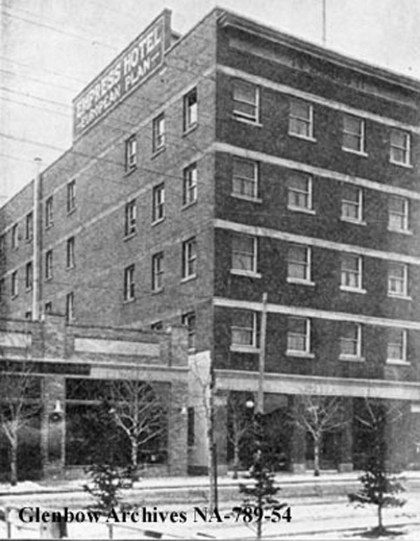 Empress Hotel. Located at 118 9th Avenue SE in Calgary